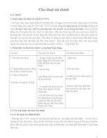 Tài liệu về cho thuê tài chính