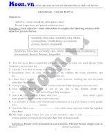 Grammar   vocab test 1 1