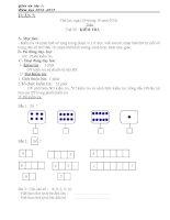 Giáo án lớp 1 phép cộng trong phạm vi 3