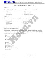 ANSWERS TO LISTENING TEST 1 2