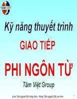 Kỹ năng thuyết trình GIAO TIẾP PHI NGÔN TỪ