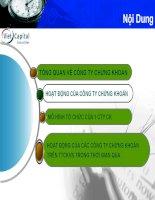 Slide hoạt động của công ty chứng khoán - NEU