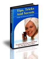 TIPS, TRICKS AND SECRETS FROM THE SKINCARE EXPERTS