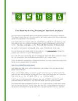 The best marketing strategies product analysis