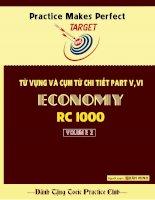 TỪ VỰNG và cụm từ CHI TIẾT PART 5, 6 toeic ECONOMY RC1000 volume 2