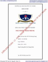 Báo cáo thực tập nhà thuốc Thảo Nhung