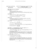 Bộ đề thi, đáp án CHI TIẾT đại học môn Toán từ 2008