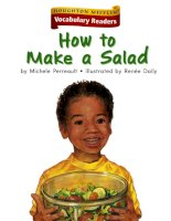 Leveled vocabulary readers    kindergarten   k 4 3   how to make a salad