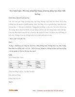 Bài tập toán lớp 5: Suy luận logic bằng phương pháp lập bảng và lựa chọn tình huống