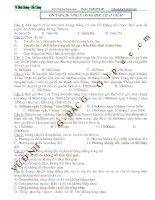 ôn tập trắc nghiệm chương 1 lý 10