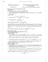 Bộ đề thi, đáp án CHI TIẾT đại học môn Toán từ 2010