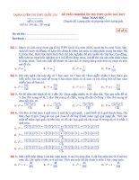 Đề thi trắc nghiệm đánh giá năng lực chuyên đề tổ hợp   xác suất