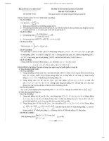 Bộ đề thi, đáp án CHI TIẾT đại học môn Toán NĂM 2009