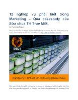 12 nghiệp vụ phải biết casestudy sữa chua TH true milk