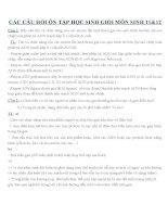 CÁC câu hỏi ôn tập học SINH GIỎI môn SINH 11