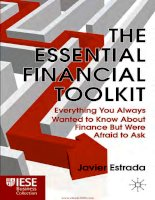 The essential financial toolkit everything you always wanted to know about finance but were afraid to ask