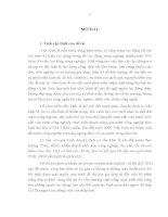 LUẬN văn THẠC sĩ   GIẢI QUYẾT VIỆC làm CHO LAO ĐỘNG NÔNG NGHIỆP TRONG QUÁ TRÌNH đô THỊ hóa ở nước TA HIỆN NAY