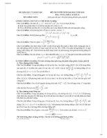 Bộ đề thi + đáp án CHI TIẾT đại học môn Toán từ 2012