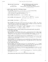 Bộ đề thi, đáp án CHI TIẾT đại học môn Toán NĂM 2013
