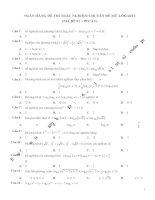 Bộ 900 câu trắc nghiệm chuyên đề mũ và lôgarit