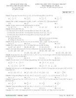Đề kiểm tra 1 tiết hình học 10, chương 1