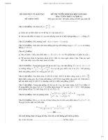 Bộ đề thi+ đáp án CHI TIẾT đại học môn Toán NĂM 2014