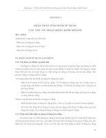Chương 3. Giáo trình Phân tích hoạt động kinh doanh  Gs. Bùi Xuân Phong