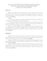 ĐỀ THI VIẾT TUYỂN DỤNG CÔNG CHỨC TỈNH QUẢNG BÌNH NĂM 2016 - LĨNH VỰC CÔNG THƯƠNG- ĐỀ 9 - 16