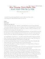 Kinh Niệm Phật Ba La Mật - Hòa Thượng Thích Thiền Tâm