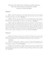 ĐỀ THI VIẾT TUYỂN DỤNG CÔNG CHỨC TỈNH QUẢNG BÌNH NĂM 2016 - LĨNH VỰC CÔNG THƯƠNG- ĐỀ 1- 8