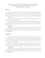 ĐỀ THI VIẾT TUYỂN DỤNG CÔNG CHỨC TỈNH QUẢNG BÌNH NĂM 2016 - LĨNH VỰC CÔNG THƯƠNG- ĐỀ 17 - 20