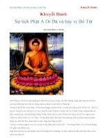 Sự tích Phật A Di Đà và bảy vị Bồ Tát - Khuyết Danh