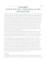 Kinh tế Việt Nam - Định hướng và viễn cảnh phát triển - Trần Bình
