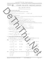 Phương pháp giải bài tập tổ hợp, xác suất, nhị thức newton