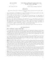 Thông tư 19/2011/TT-BTC quy định về quyết toán dự án hoàn thành thuộc nguồn vốn Nhà nước