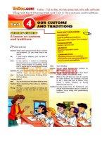 Tiếng Anh lớp 8 Chương trình mới Unit 4: Our customs and traditions