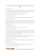 Giải bài tập trang 121 SGK Sinh lớp 6: Tổng kết về cây có hoa (tiếp theo)