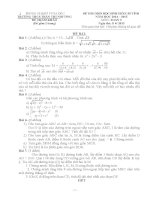 bộ đề thi tỉnh lớp 9 môn toán có đáp án