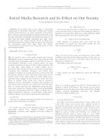 Social media research and its effect on our society
