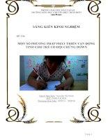 Một số phương pháp phát triển vận động tinh cho trẻ có hội chứng Down