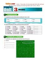 Bài tập Tiếng Anh lớp 10 Chương trình mới Unit 3: Music
