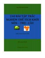 240 BAI TAP TRAC NGHIEM THE TICH NON TRU CAU
