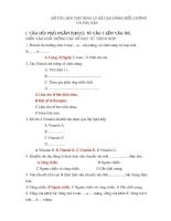 Bộ câu hỏi test sinh lý hệ cao đẳng điều dưỡng và phụ sản