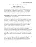 A Synthesis of Research on Effective Mathematics Instruction