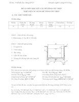 Đồ án chuyên ngành công trình thủy lợi thiết kế cầu máng bê tông cốt thép