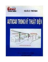 ĐHCN giáo trình autocad trong kỹ thuật điện   nhiều tác giả, 42 trang