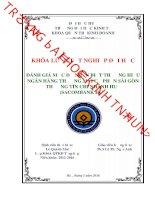 Đánh giá mức độ nhận biết thương hiệu ngân hàng TMCP Sài Gòn Thương Tín - chi nhánh Huế (Sacombank Huế)