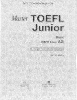 MASTER TOEFL JUNIOR BASIC reading