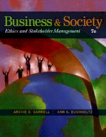 Business and society ethics and stakeholder management 7th edition