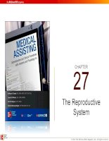 Lecture Medical assisting: Administrative and clinical procedures with anatomy and physiology (4e) – Chapter 27